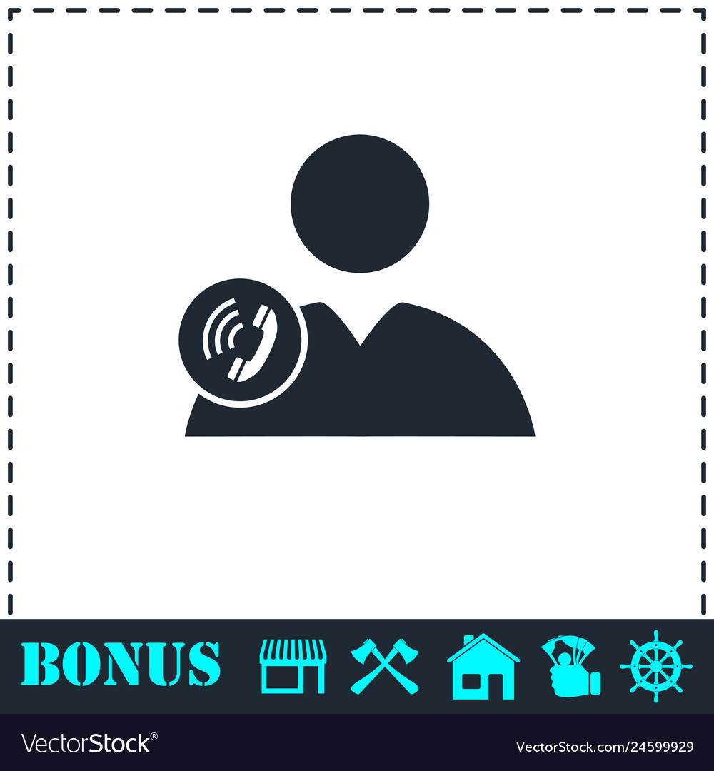 Call to user icon flat