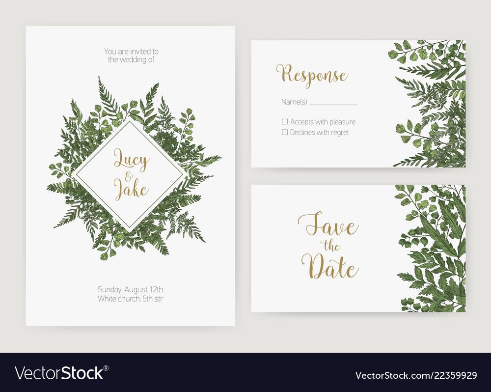 Wedding Invitation Save