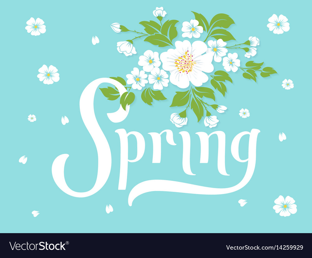 Elegant spring invitation card