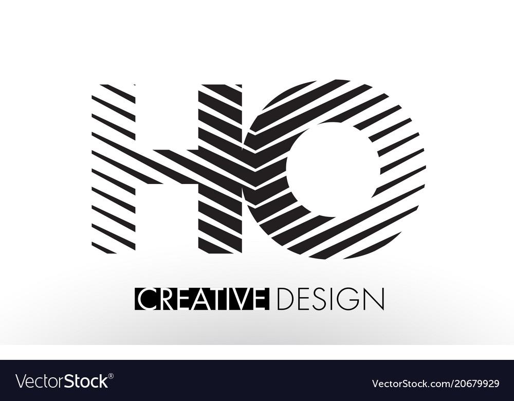 Ho h o lines letter design with creative elegant