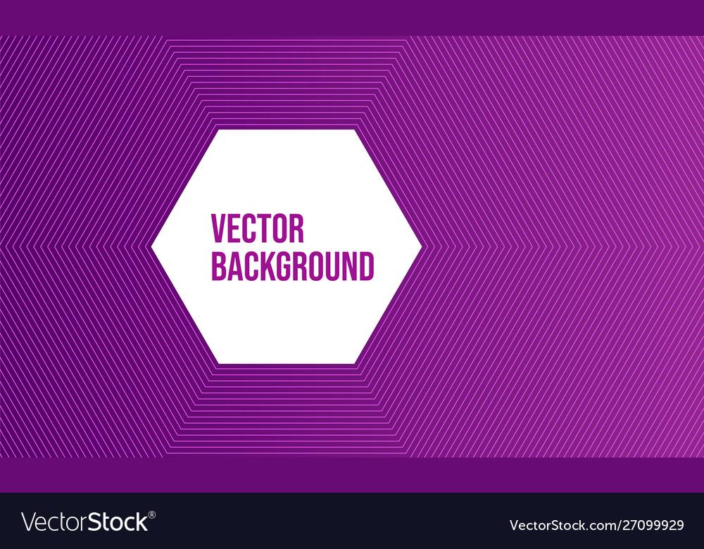 Modern abstract purple line art design
