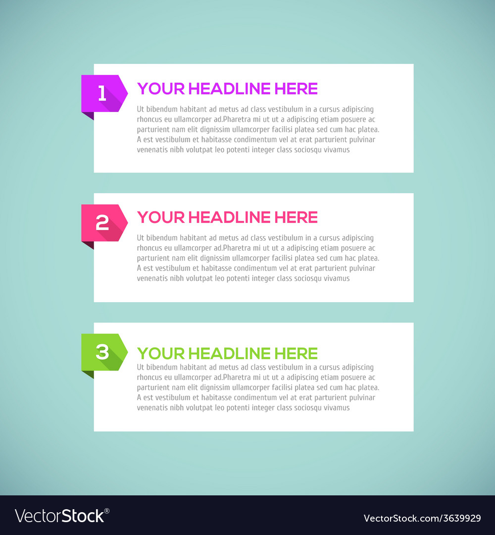 Modern infographics Design Layout with long shadow vector image