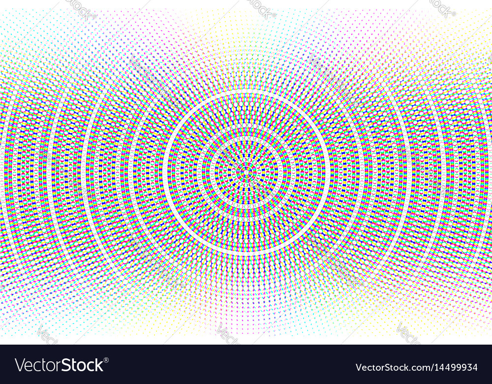 Abstract circle glitched background