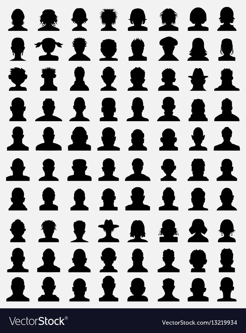 avatar profiles royalty free vector image vectorstock