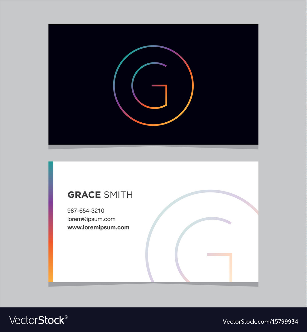 Business-card-letter-g