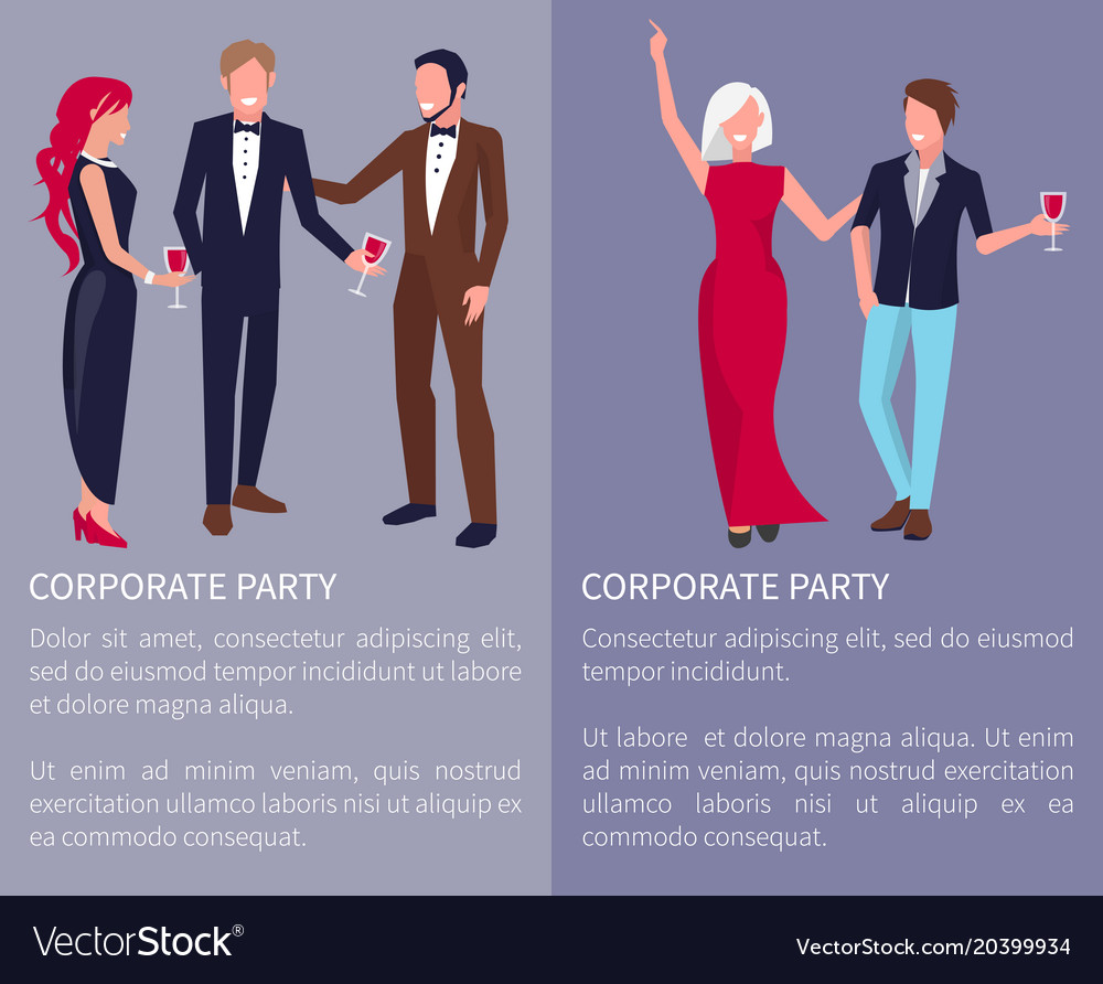 Corporate party poster text