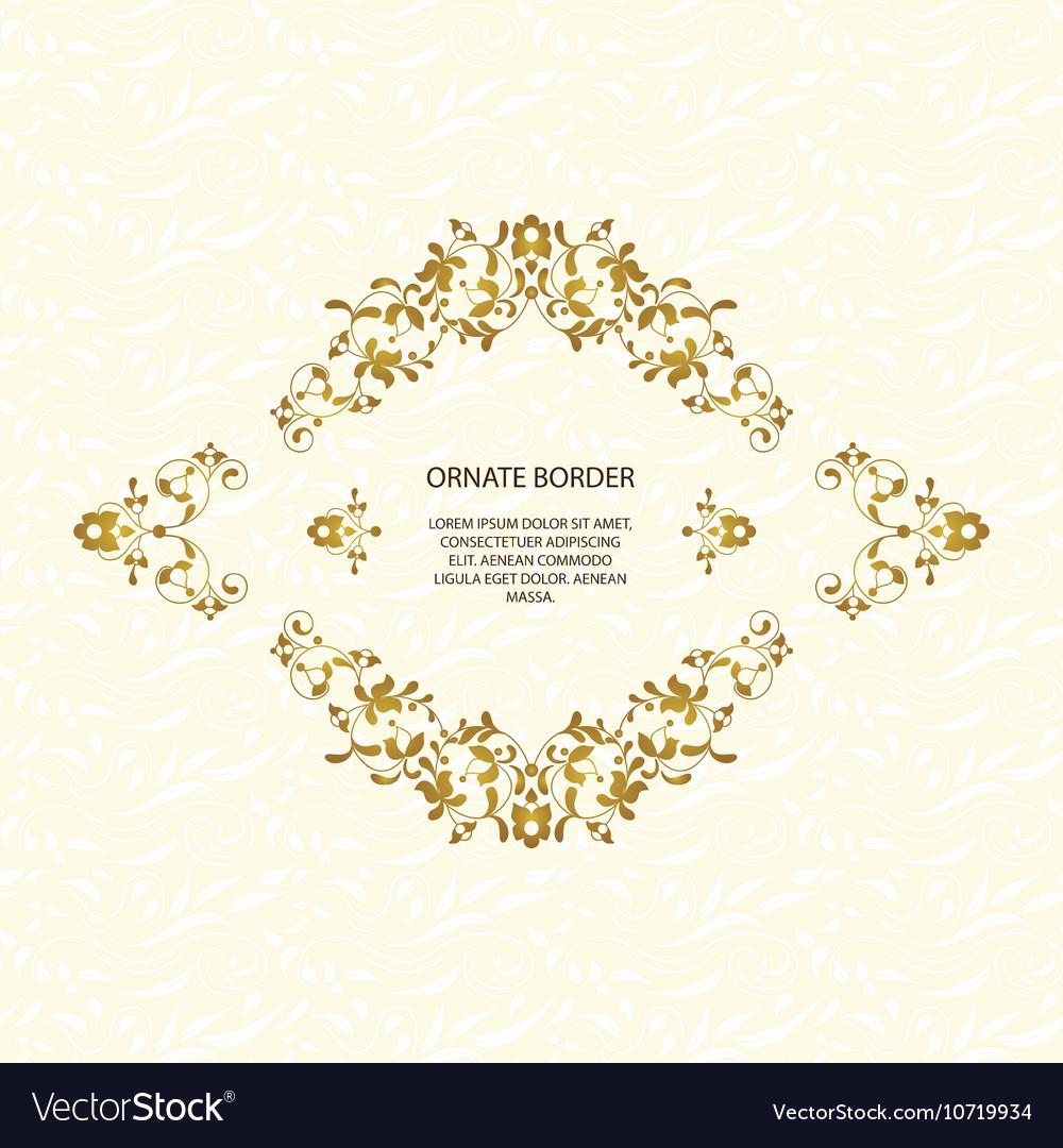 Decorative frame Elegant element for