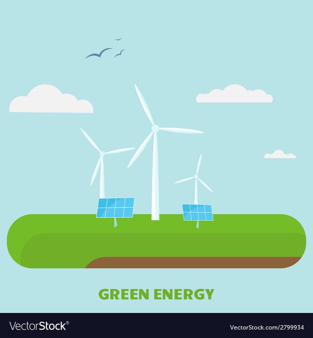 Green Energy vector image