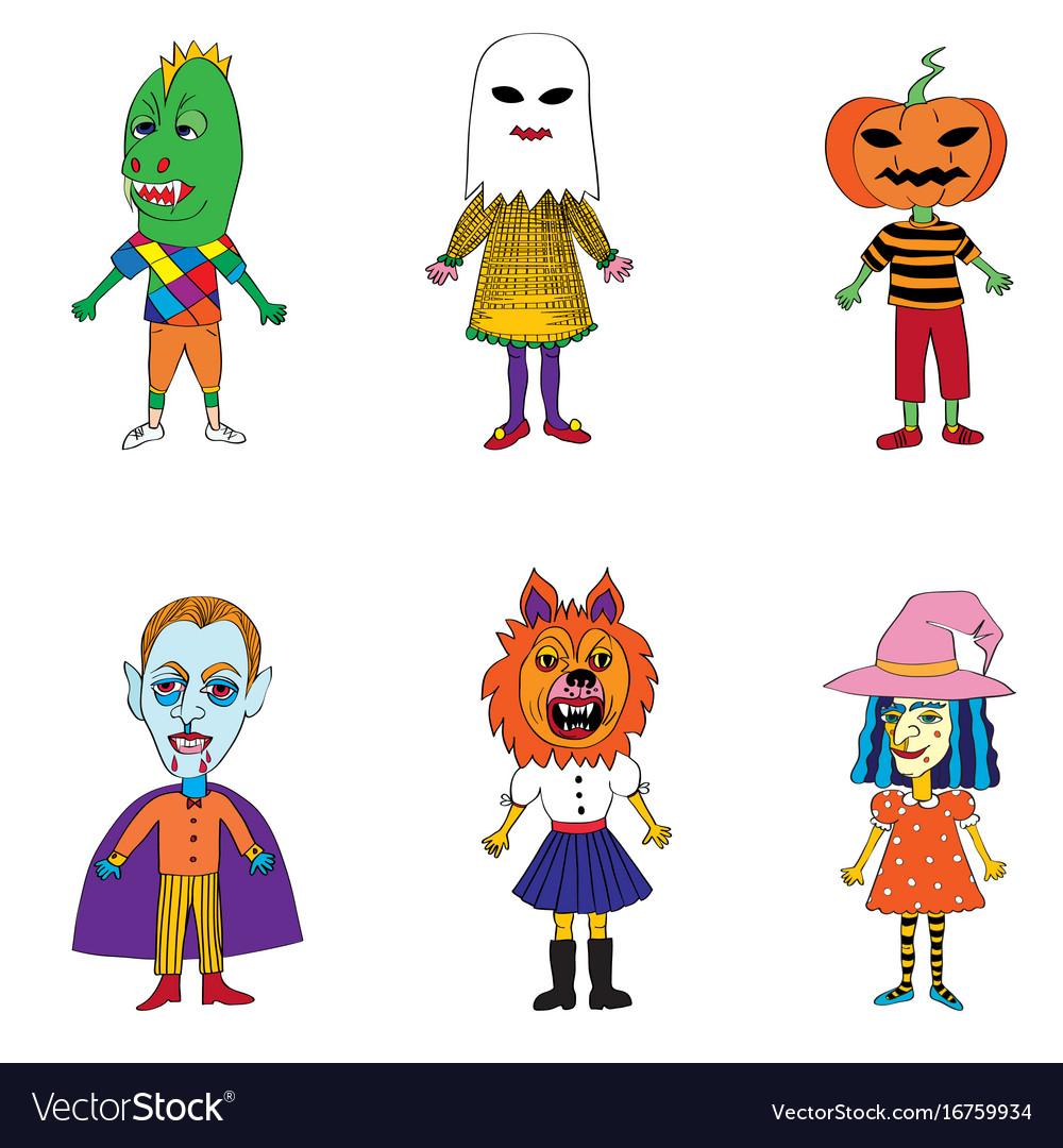 Helloween costumes drawings