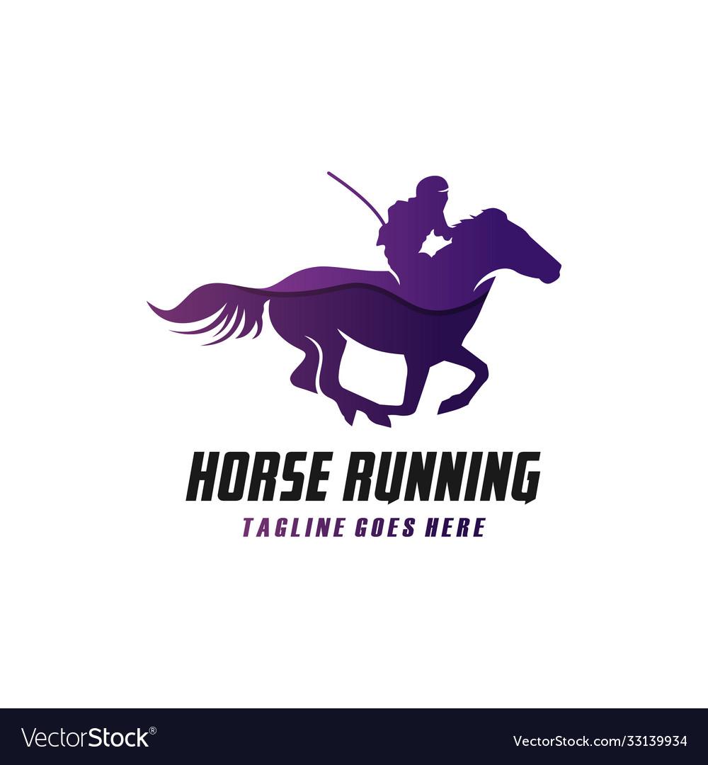 Modern running horse logo