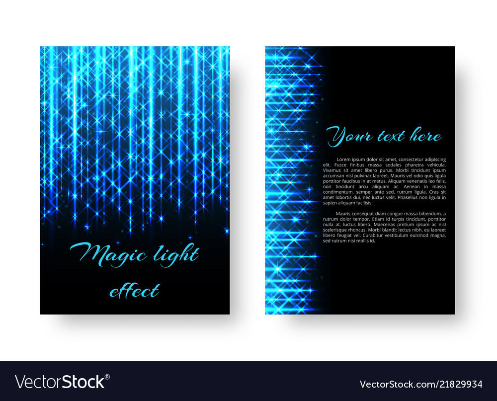 Rectangular leaflet with neon light