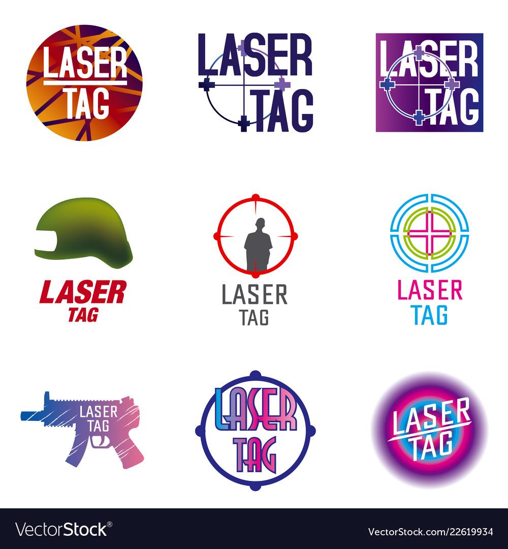 Set of logos for laser tag