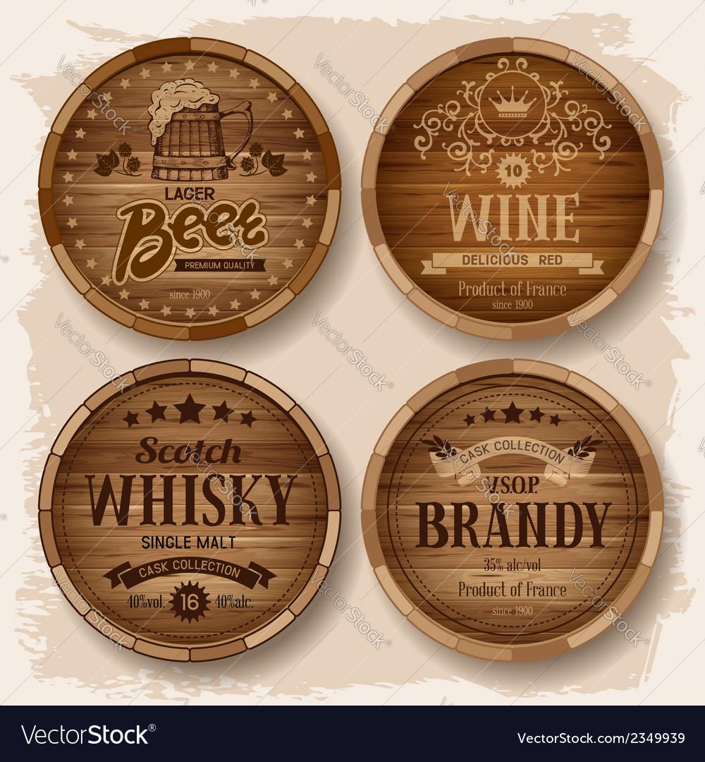 Barrel label vector image