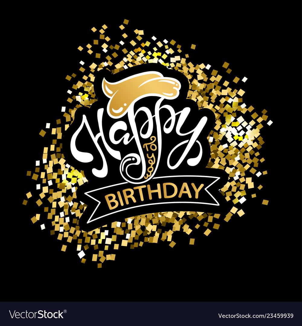 Happy birthday beautiful greeting card poster