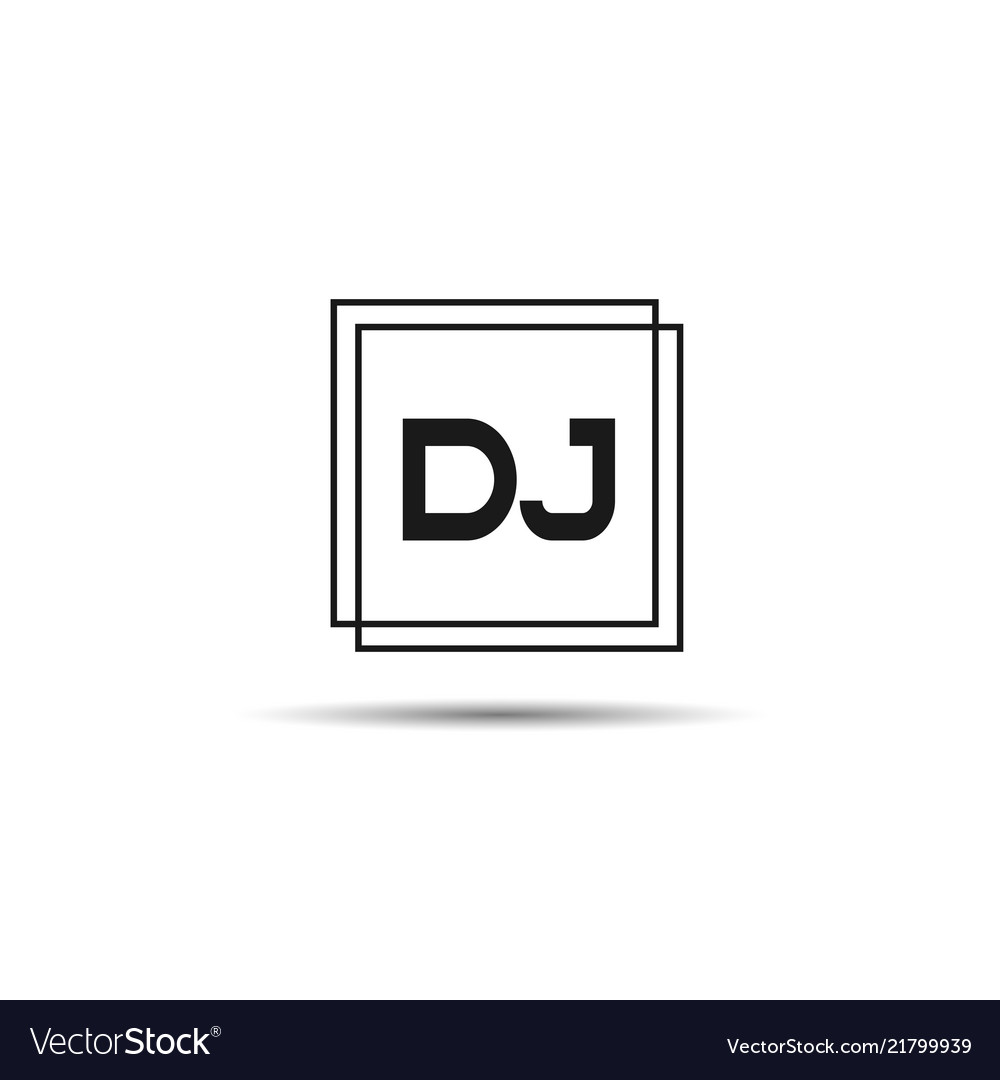 Initial letter dj logo template design Royalty Free Vector