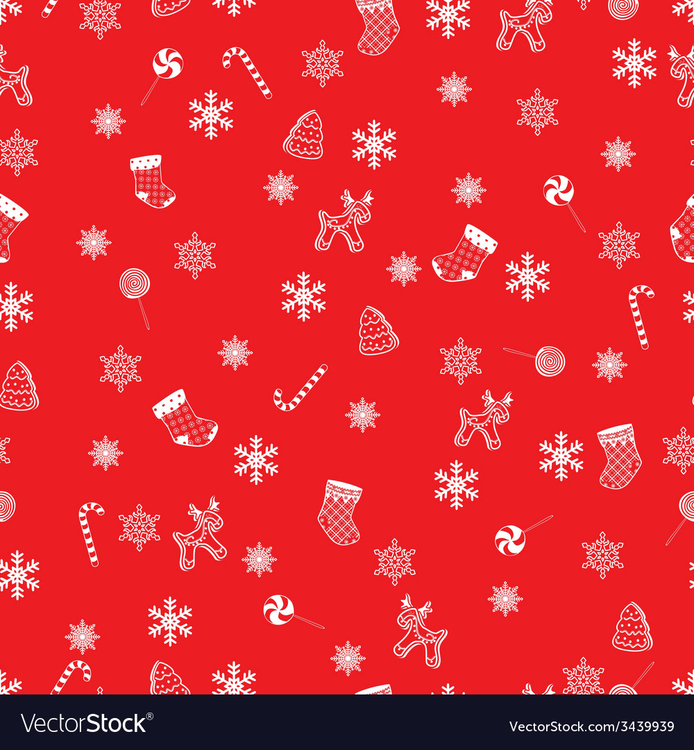 Retro seamless christmas pattern