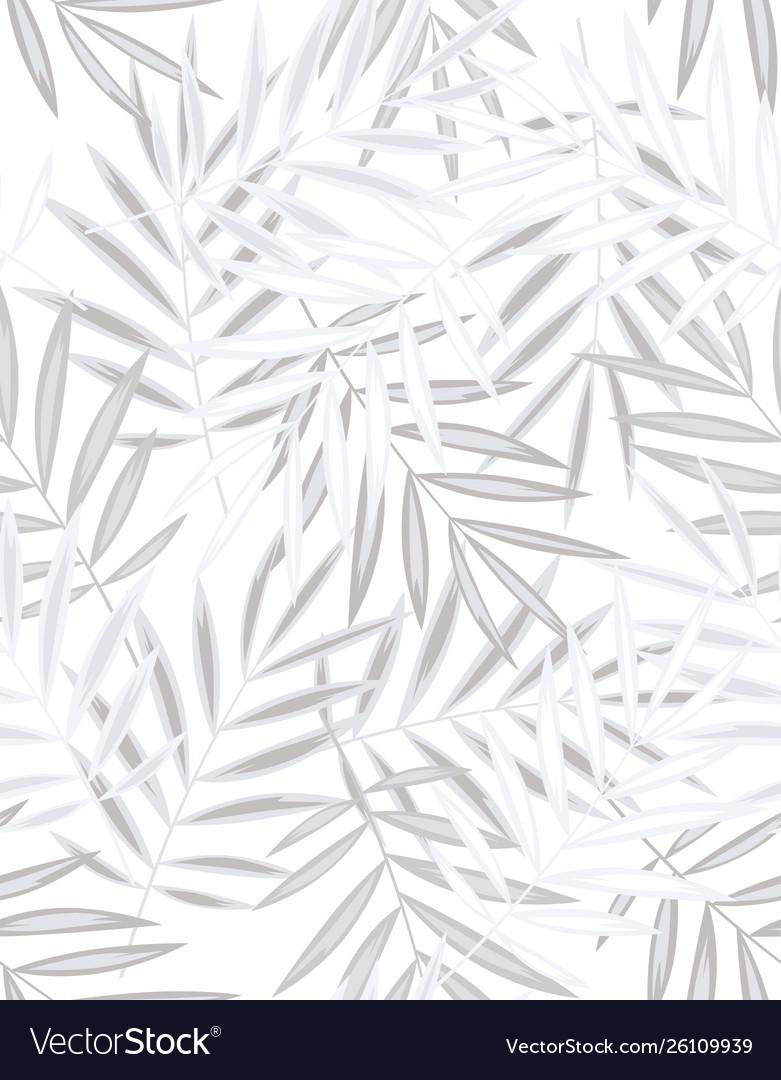 Seamless palm leaf pattern