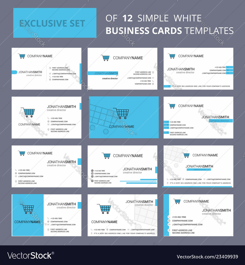 Set of 12 cart creative busienss card template