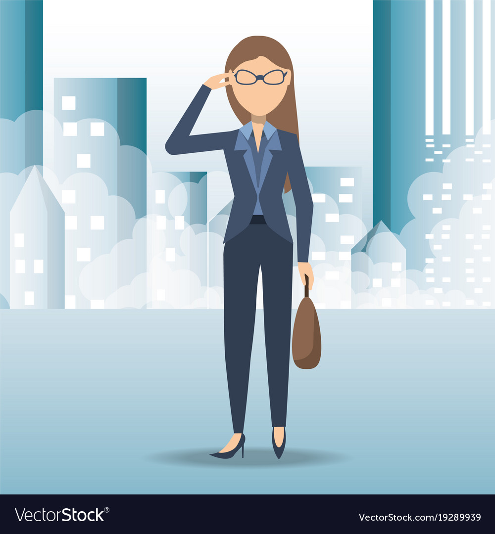 successful business woman cartoon royalty free vector image