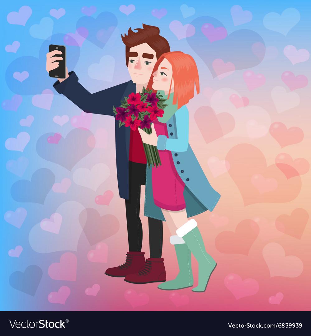 Valentines Day Couple Selfie