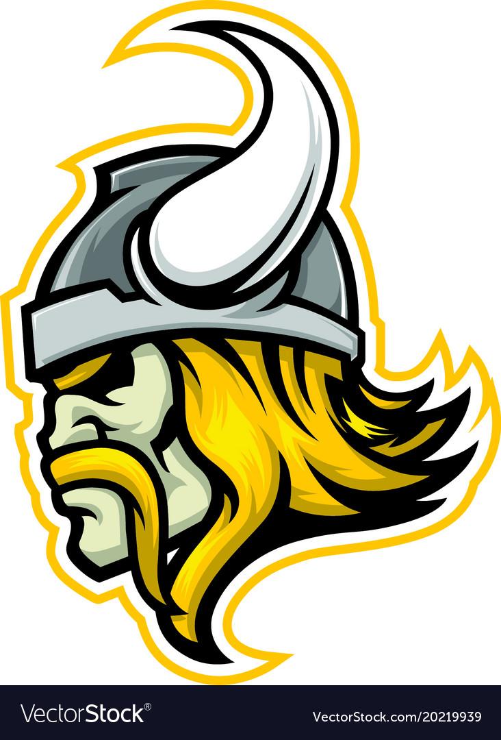 Viking Head Logo Royalty Free Vector Image Vectorstock
