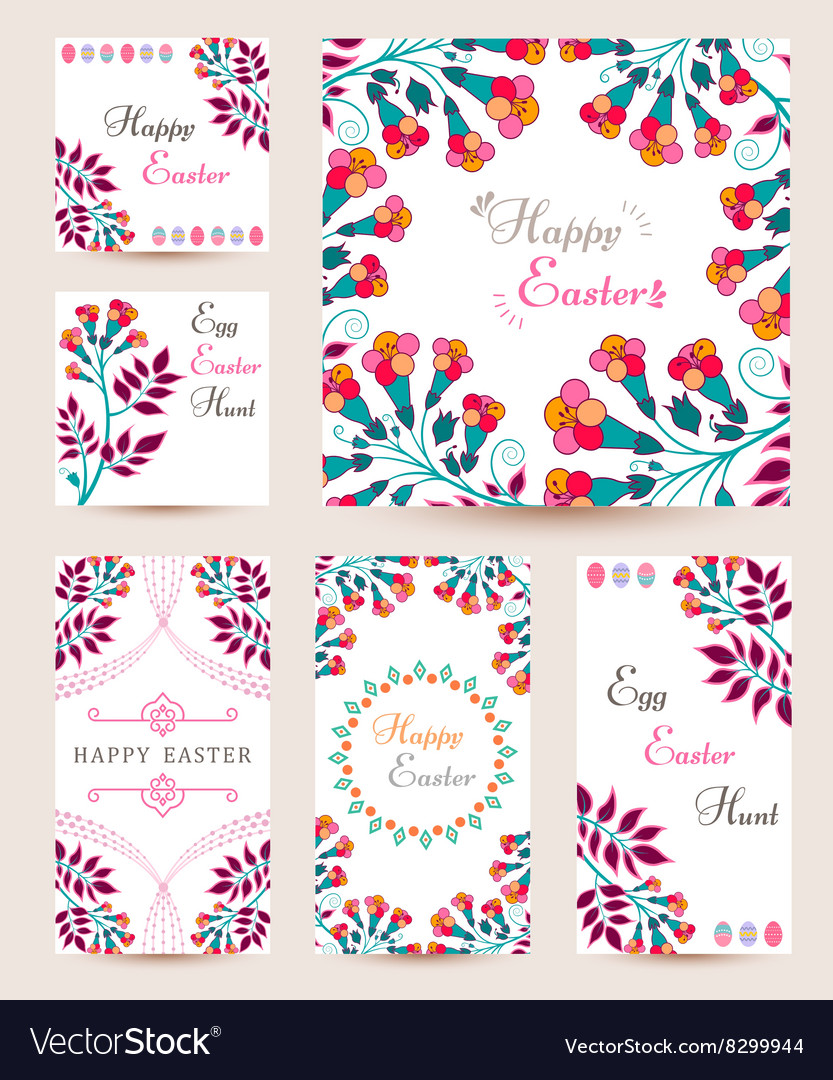Collection easter cards