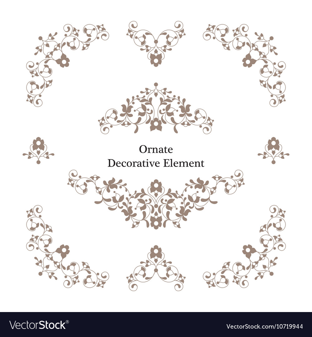 Decorative frame Elegant element for