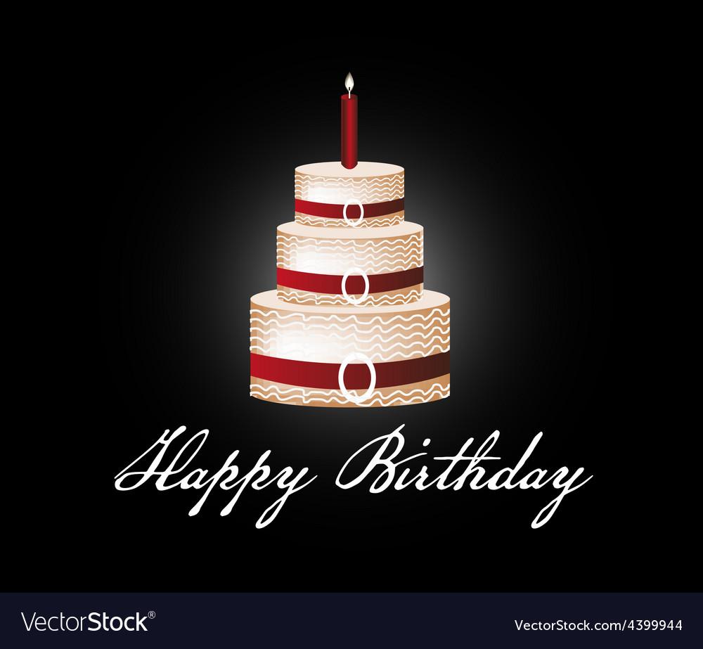 Pleasing Happy Birthday Cake Background Royalty Free Vector Image Funny Birthday Cards Online Elaedamsfinfo