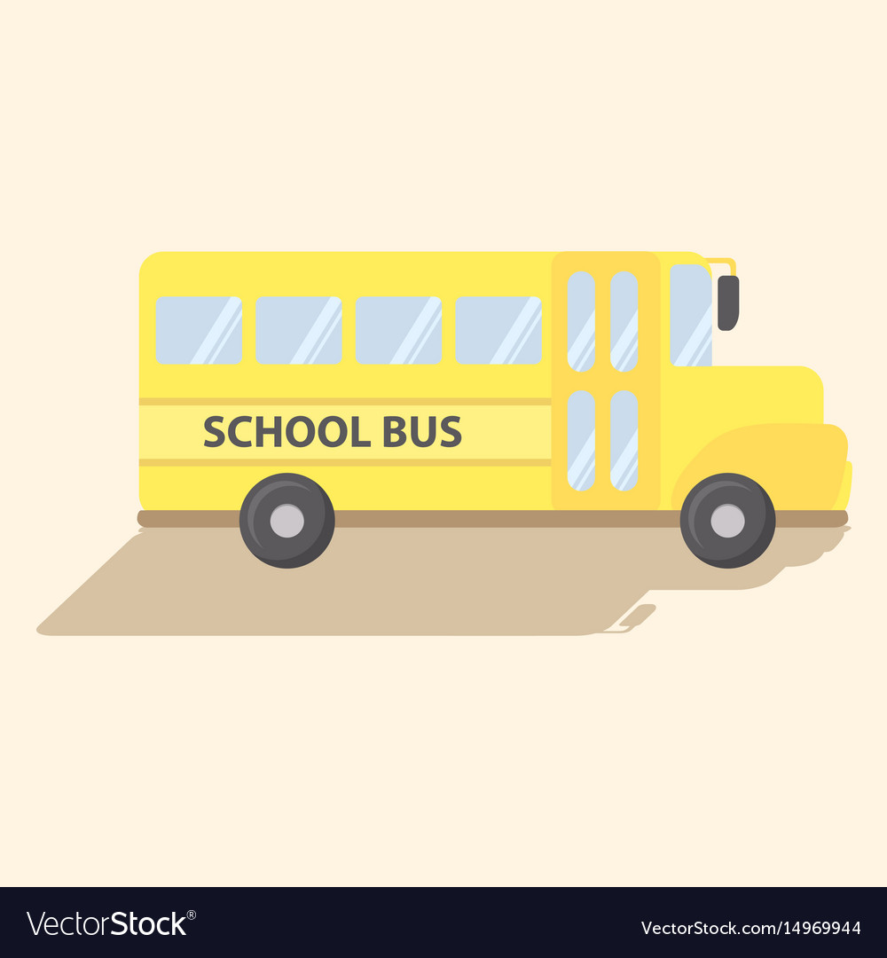 School transportation bus yellow cartoon vector image