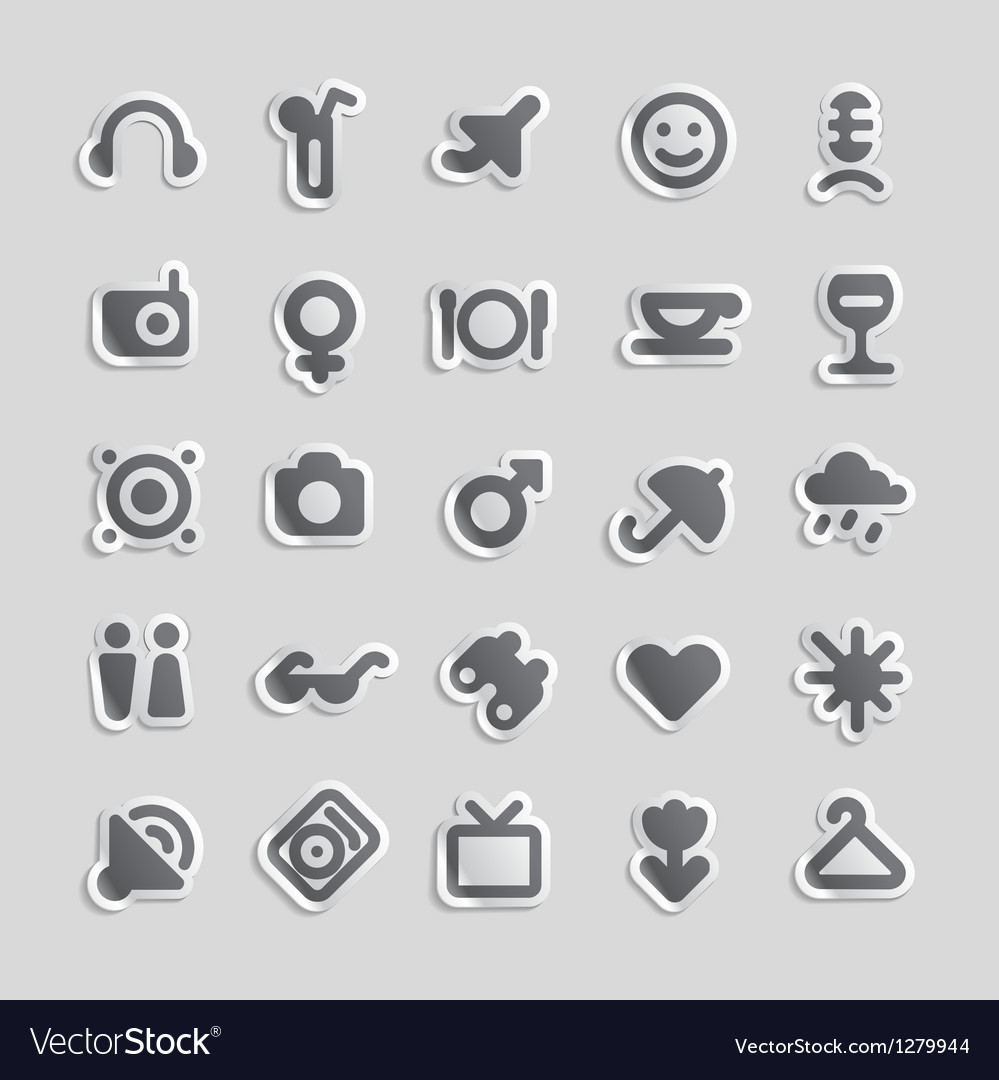 Sticker icons for travel and leisure vector image