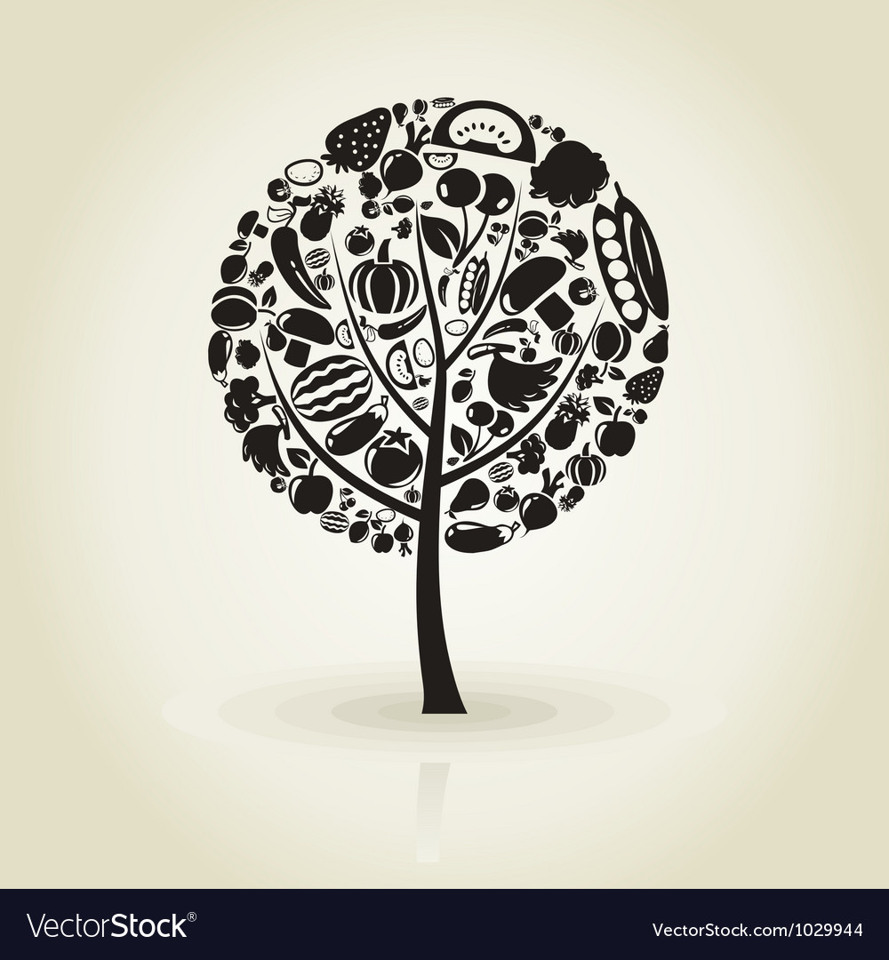Tree fruit vector image