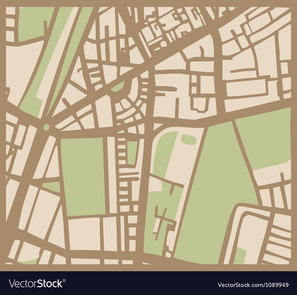 Abstract city map