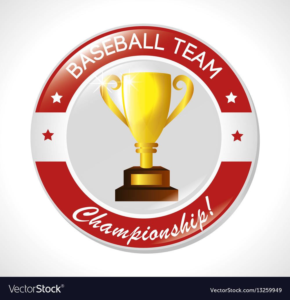 Baseball trophy winner icon