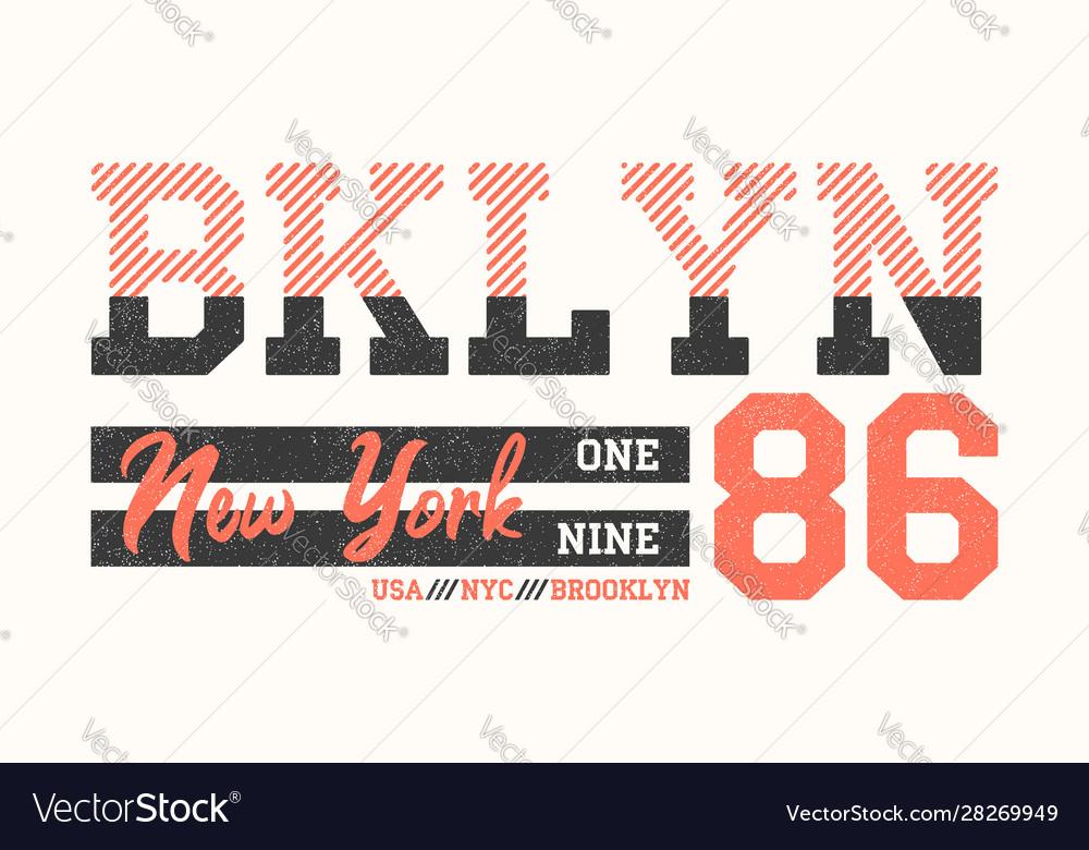Brooklyn new york athletic design for t-shirt