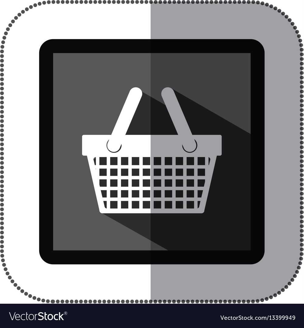 Contour basket shop icon