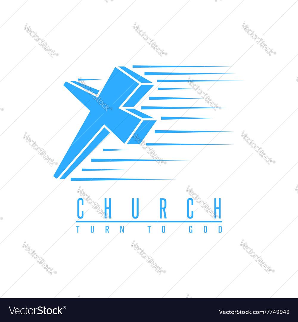 Cross logo church spirituality religion symbol