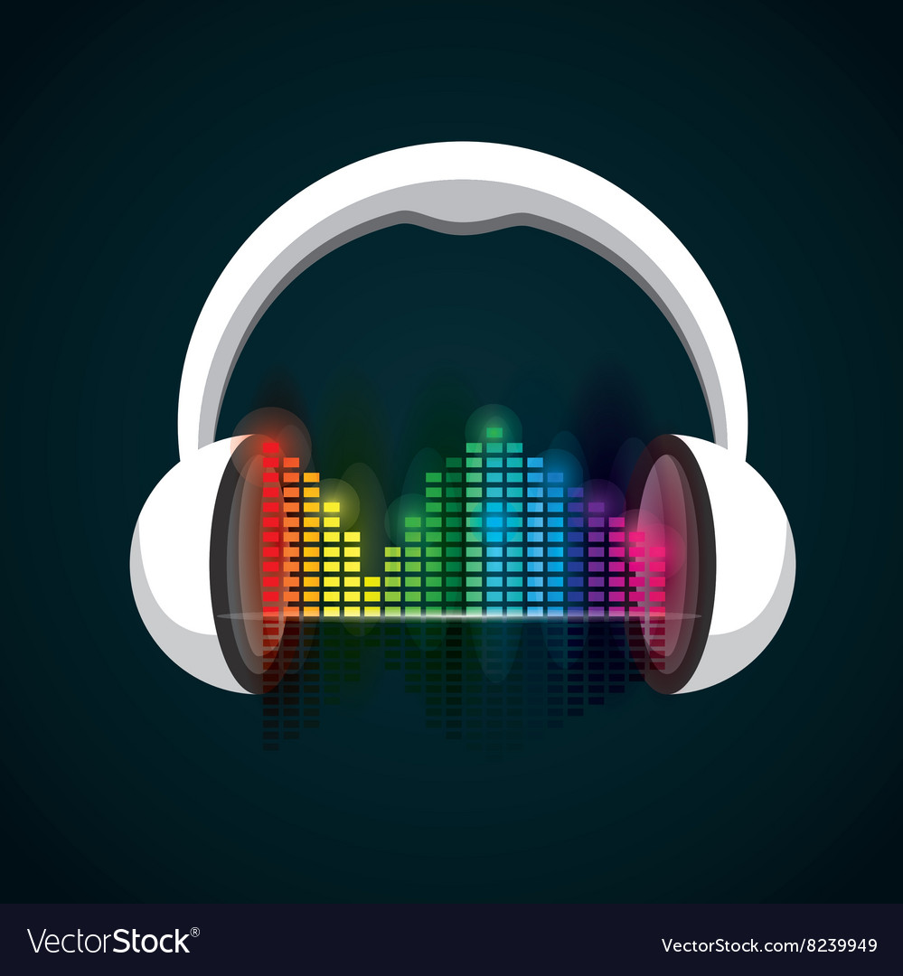 Headphones icon design vector image