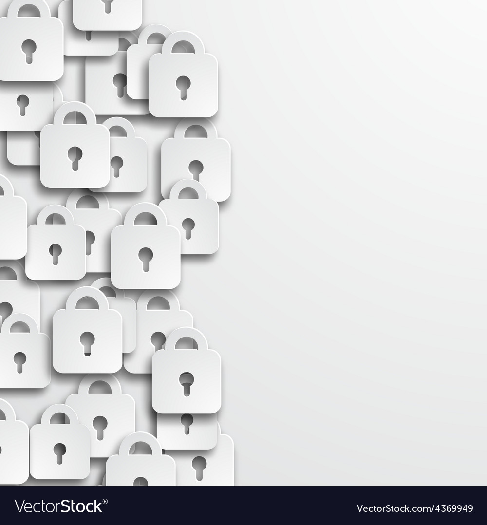 Modern lock icons background