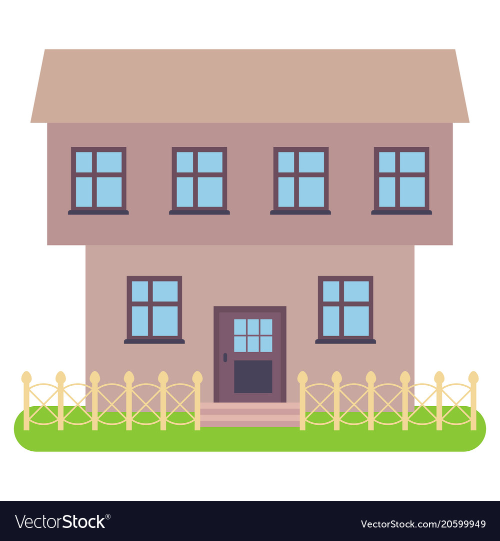 Private house on a white background Royalty Free Vector