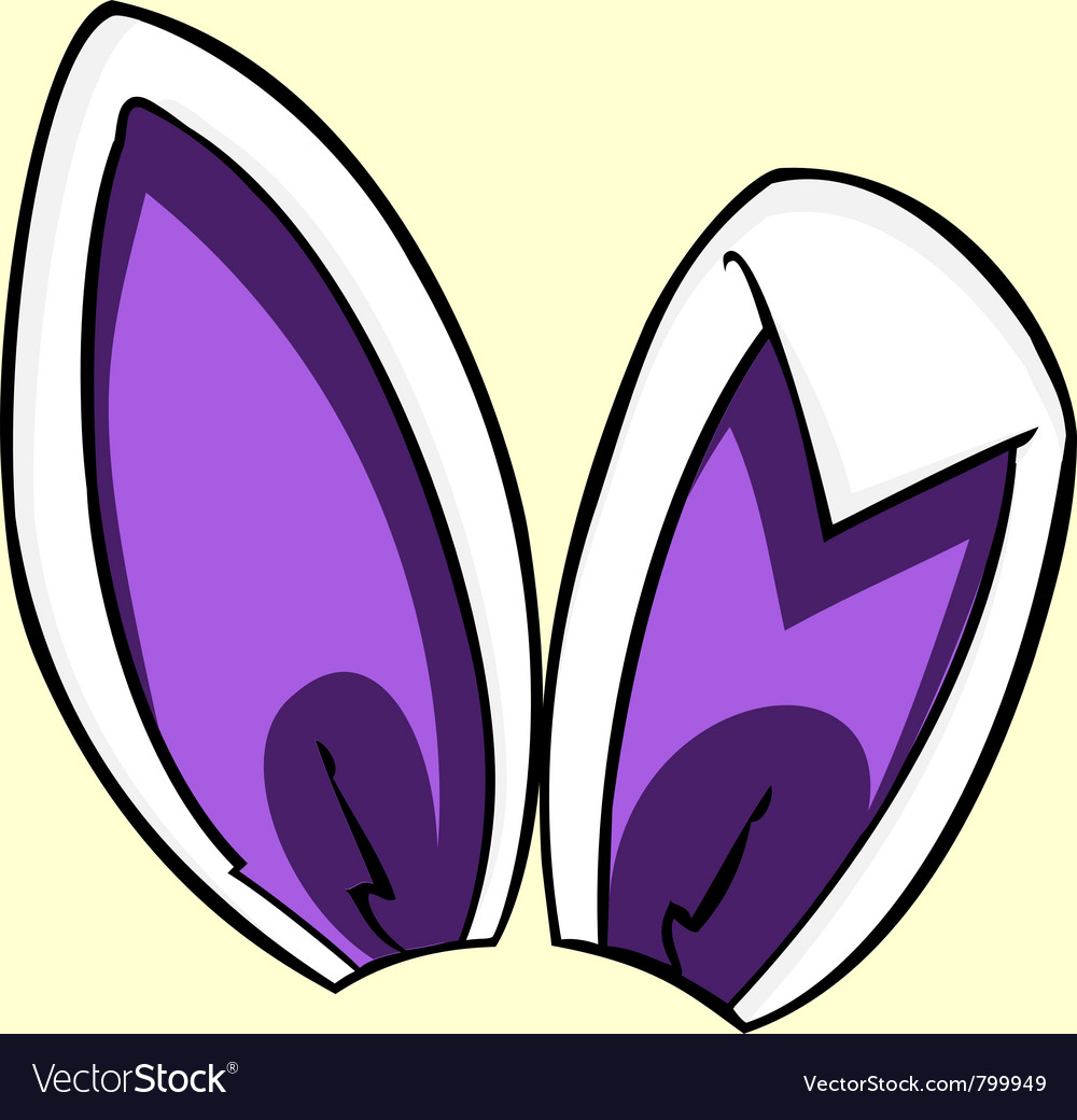 Purple bunny ears vector image