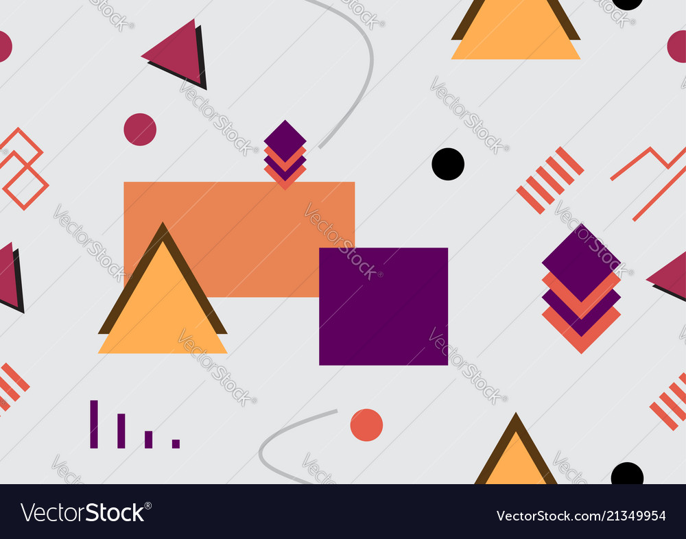 Abstract 80s-90s style seamless background