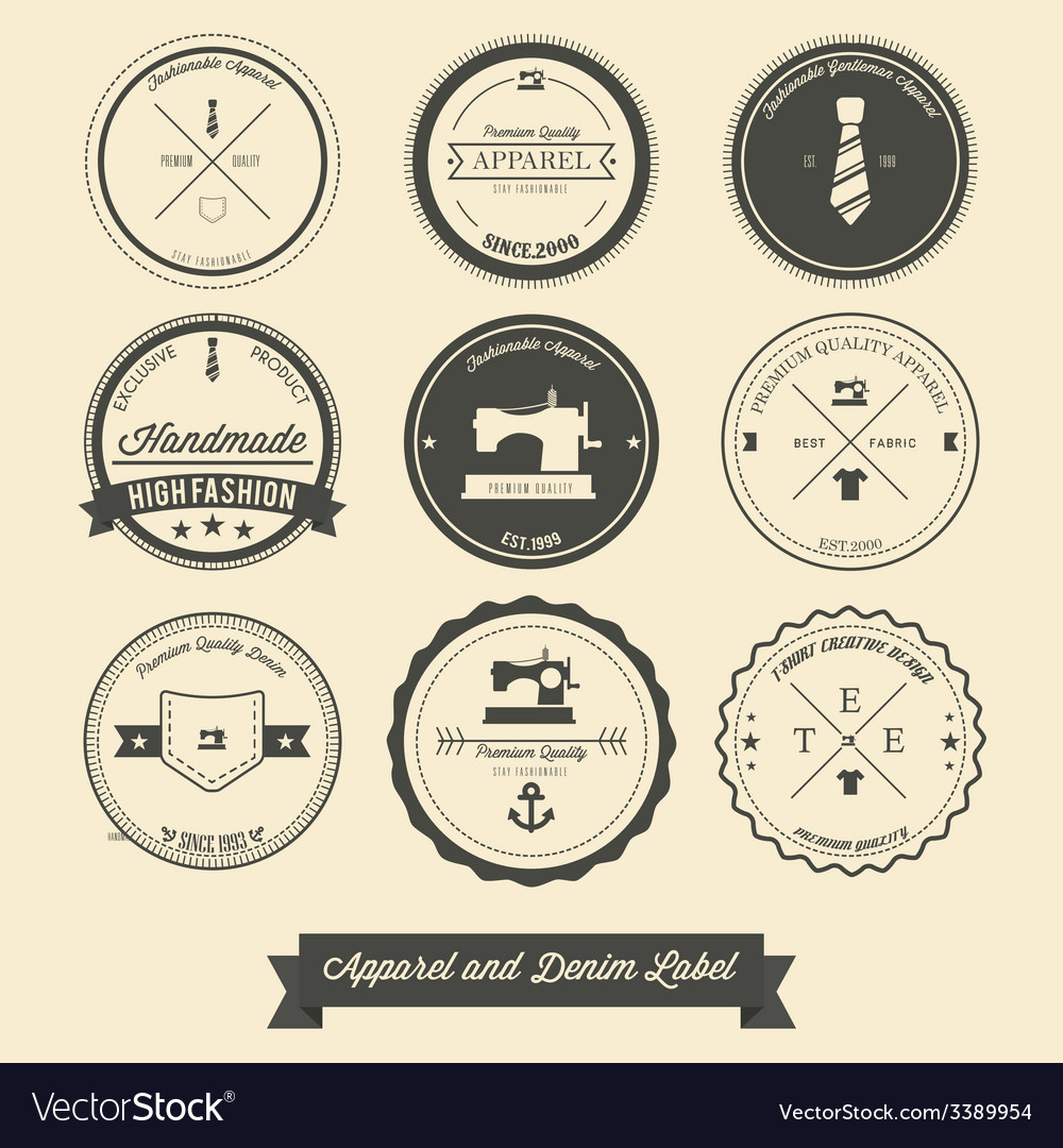 Apparel and denim label