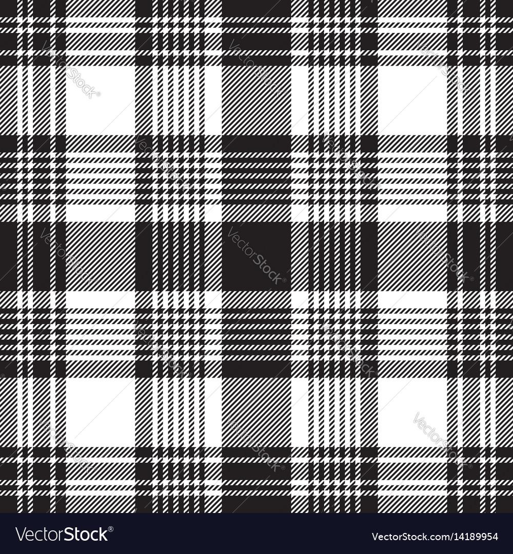 Black checkered plaid seamless pattern
