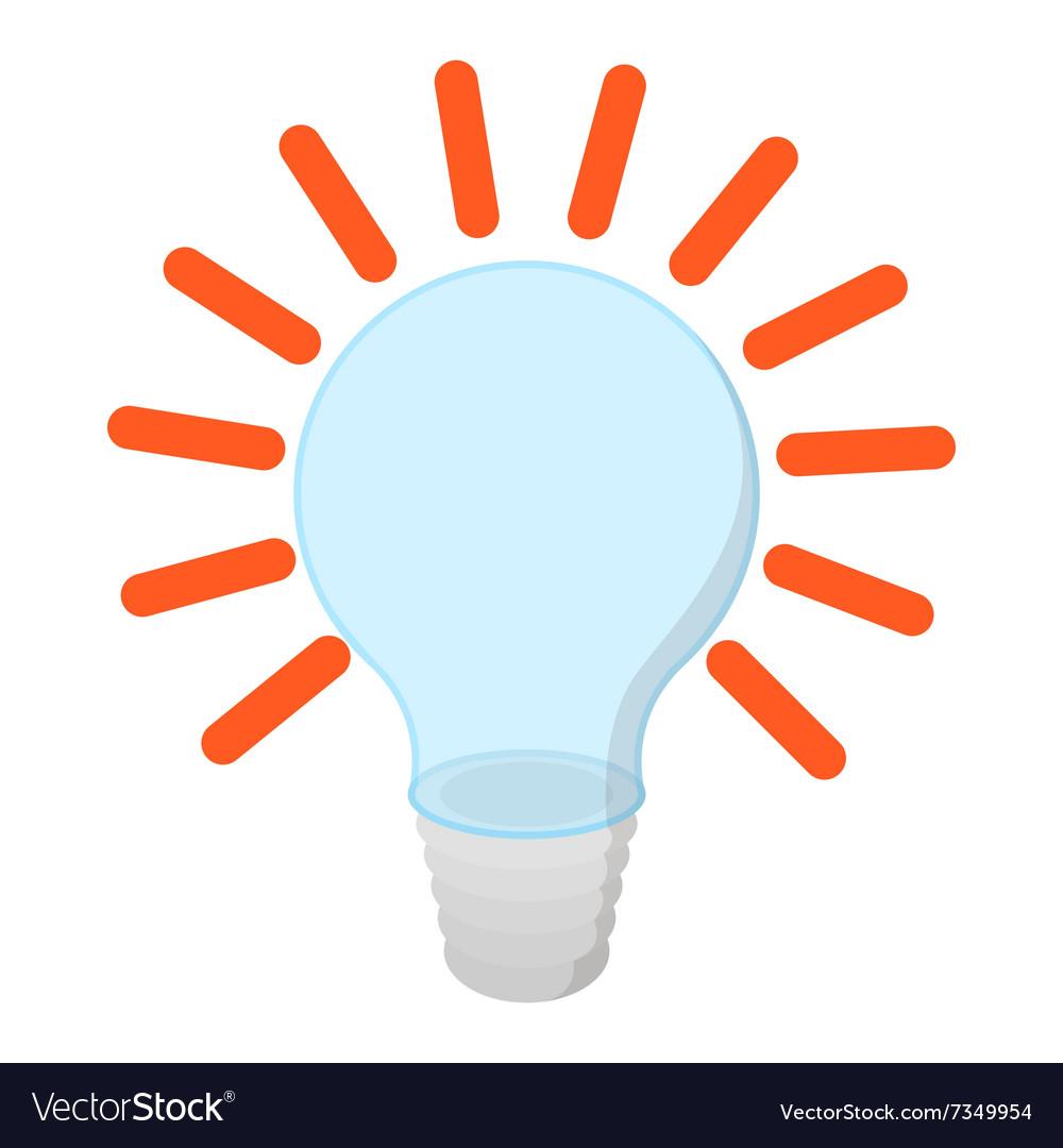 Bulb with idea cartoon icon