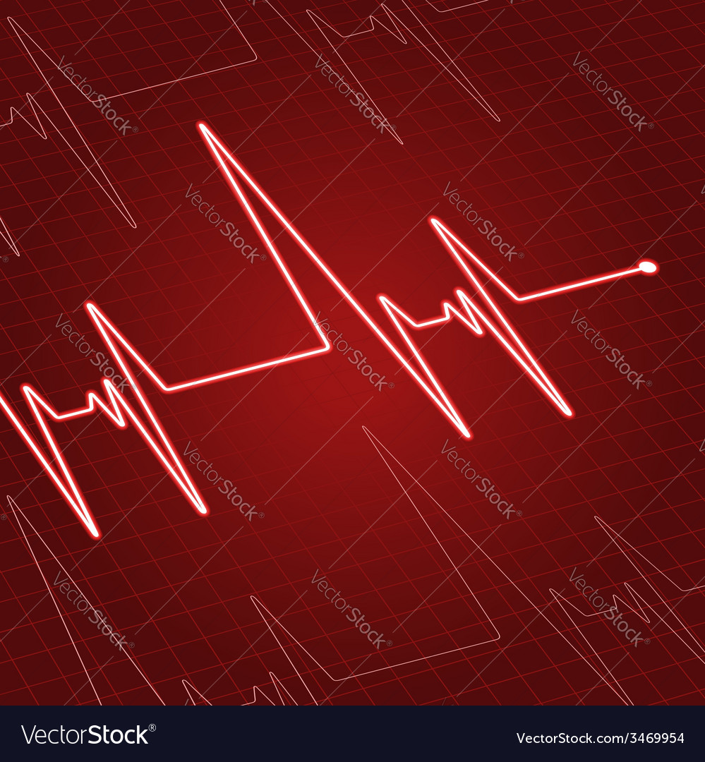 Close up heartbeat on screen vector image