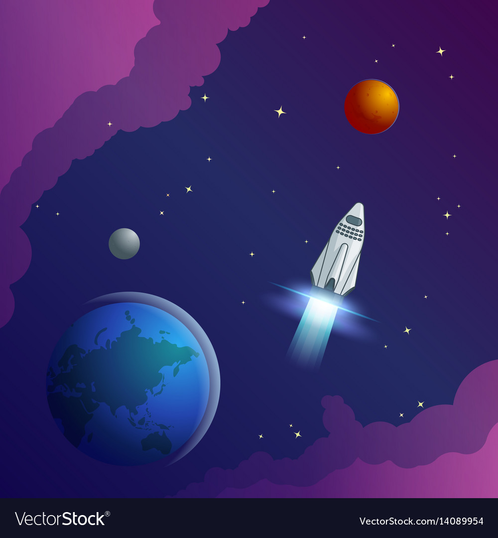 Colorful universe creative concept vector image