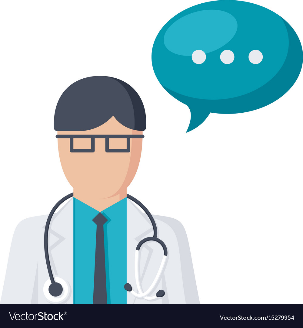 Ask A Doctor >> Doctor Ask Icon Royalty Free Vector Image Vectorstock