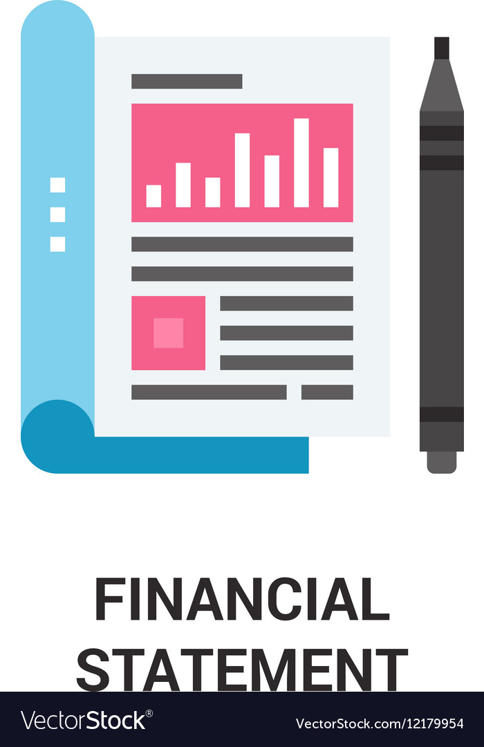 Financial statement icon concept Royalty Free Vector Image