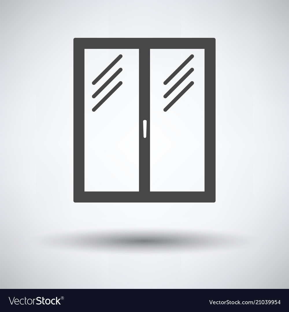 Icon of closed window frame Royalty Free Vector Image
