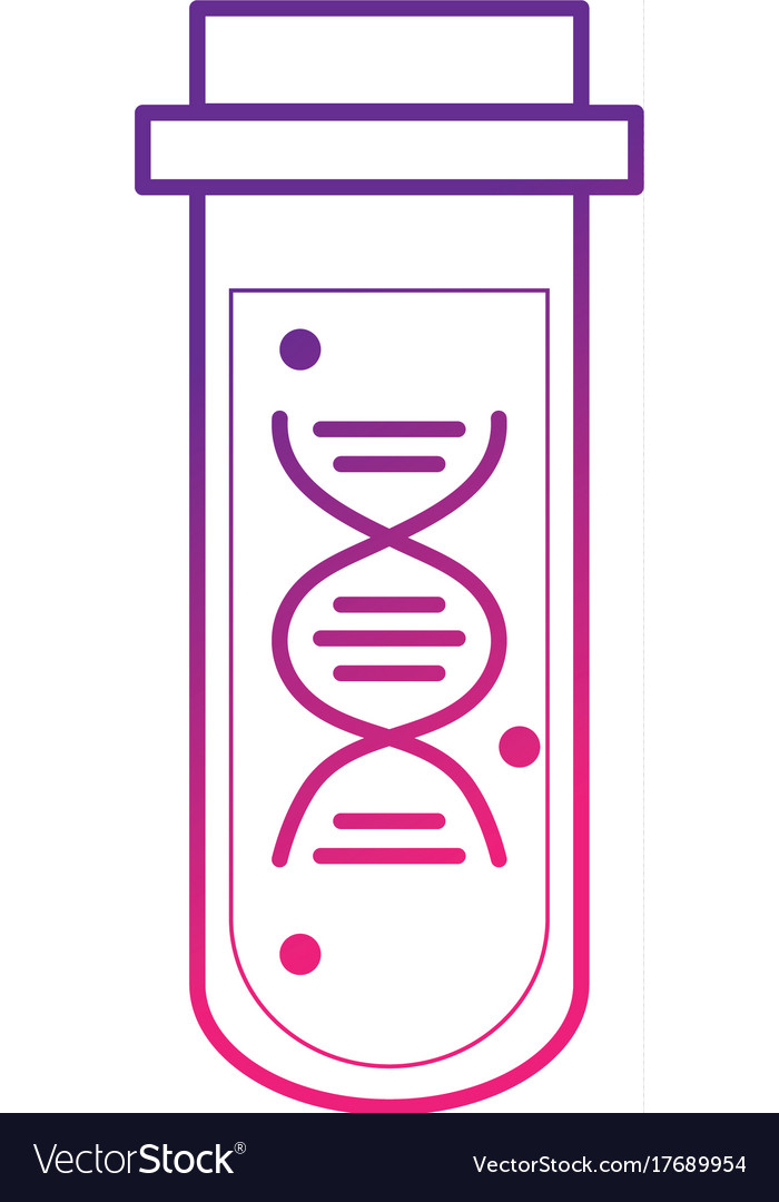 Line dna analysis tube science diagnostic